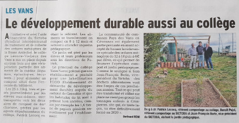 Article du Dauphiné du 9/03/2018